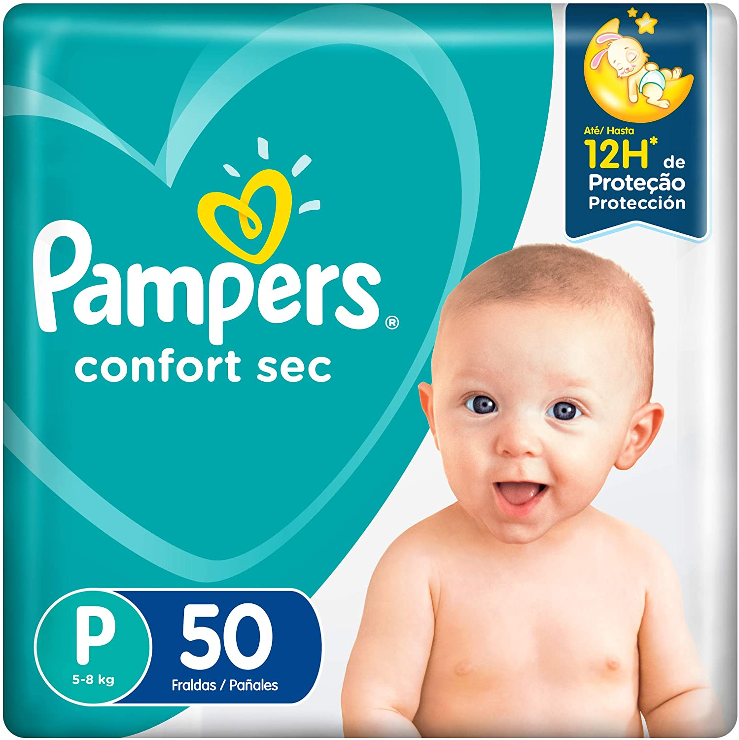 Pampers Confort Sec P 50 Unidades, Pampers