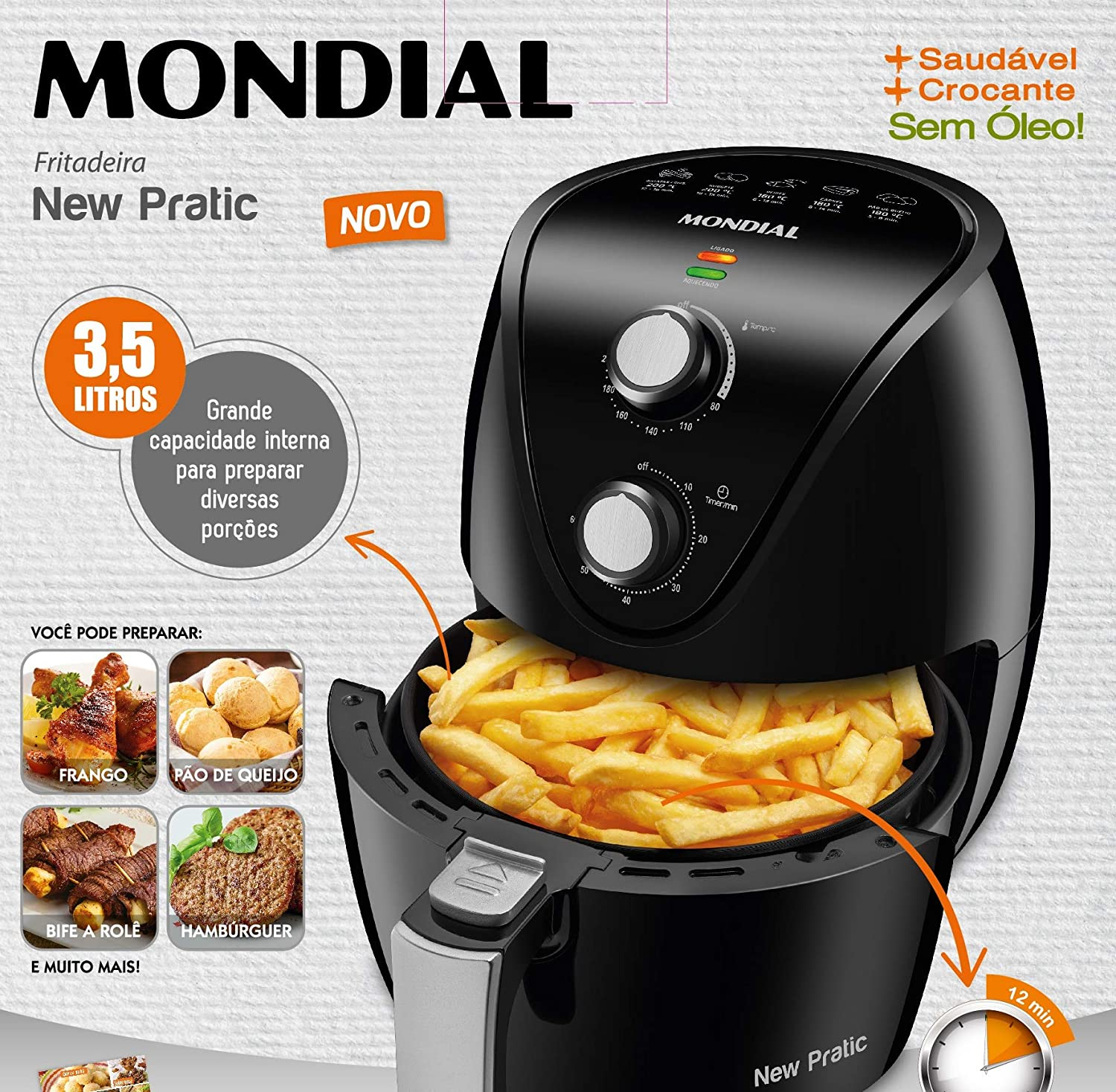 Fritadeira Air Fryer, 3,5L, 127V