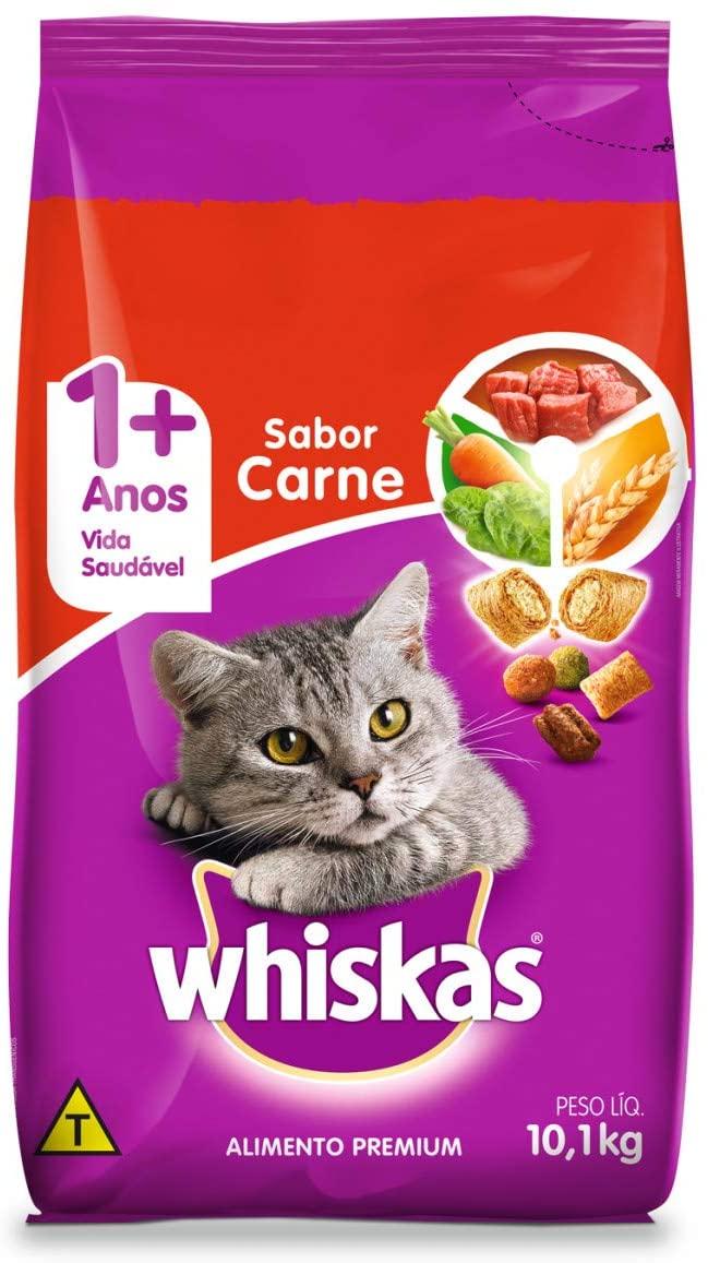 Ração Whiskas Carne Para Gatos
