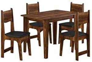 Conjunto Mesa de Jantar com 4 Cadeiras