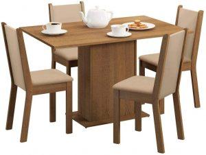 Sala de Jantar Talita Mesa com 4 Cadeiras +