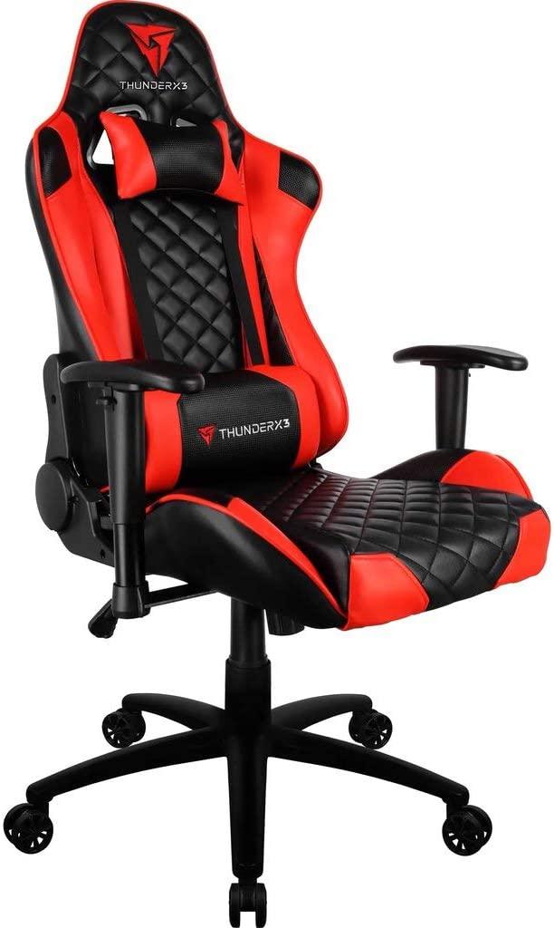 Cadeira Gamer Profissional TGC12 Preta Vermelha THUNDERX3